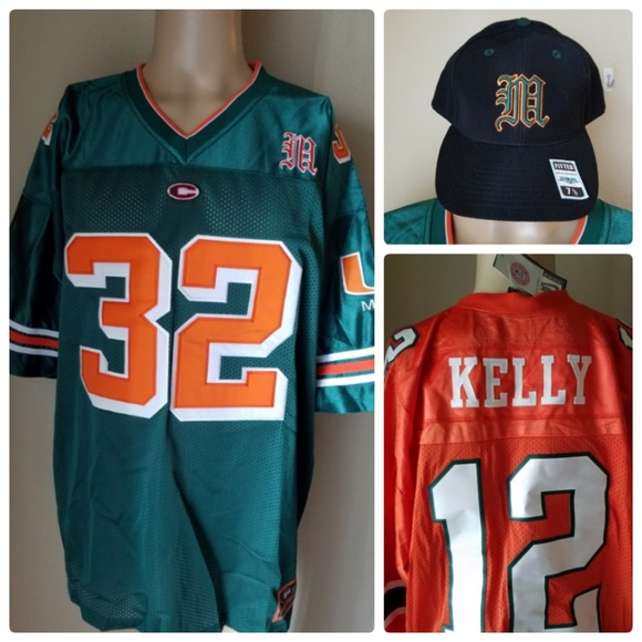 hot sales 73667 19bc8 Miami Hurricanes Kelly Jerseys & Fitted Cap